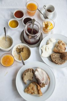 Local cold cuts, homemade sweet preserves, spinach pies, and oats with all- natural pure Greek honey. Spinach Pie, Cold Cuts, Greek Islands, Preserves, Greece, Honey, Homemade, Eat, Natural