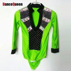 Tienda Online Hombre Niño de Baile Latino Top Verde Blanco Rosa Camisa de  la Danza de Salón Masculino Ropa de Spandex y Taladro Brillante para el  Baile de ... e520d67cbe1