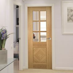 Kensington Oak Panel Door with Clear Safety Bevelled Glass, Prefinished. #kensingtondoor #internalelegantdoor #traditionaldoor