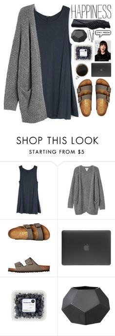 """""""·· stormy beach day ·· // my dream wardrobe pt.4"""" by undercover-martyn ❤ liked on Polyvore featuring Monki, Birkenstock, Incase, BOBBY and Sefte"""