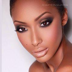 maquiagem noiva pele negra esfumado