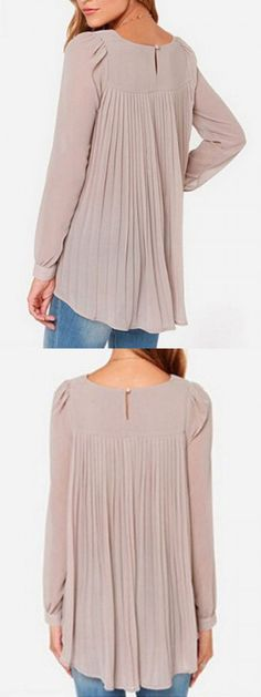 LOVE this blouse. The color and extreme distressed. Love the style of the blouse too.