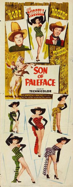 Son of Paleface (1952) starring Bob Hope, Jane Russell & Roy Rogers and Trigger
