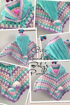 Baby's cute Hooded Poncho