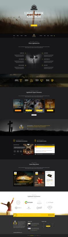 lightbook church psd template website ideaswebsite designsdesign