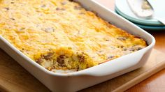 Looking for a tasty breakfast! Then try this casserole that's made with sausage, potatoes and Original Bisquick® mix!