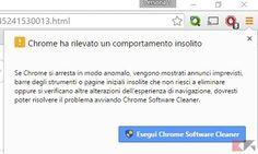 Come eseguire la scansione di un computer Windows con Chrome Software Cleaner.