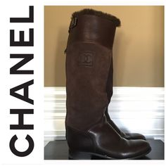 Chanel genuine fur riding boots Chanel genuine fur lining boots. Not available in the store anymore....in like new condition. Trade value higher and not included in bundle discount. Size 39.5 but fits like 8.5-9 CHANEL Shoes Winter & Rain Boots
