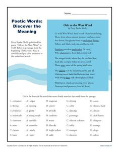 Math Coloring Worksheets 2nd Grade Pdf Context Clues Worksheet Writing Part  Intermediate  Great  Landform Map Worksheet Word with Letter T Worksheets Pdf Shelleys Ode To The West Wind Can Help Your Student Understand Word  Meanings With Regrouping Addition And Subtraction Worksheets Pdf