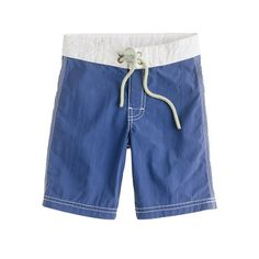 J.Crew - Boys' contrast-stitch board short