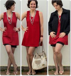 blog vitrine @ugust@ LOOKS | por leila diniz: vestido vermelho de cinco reais + vestido combinação + DEUS e + ideias.