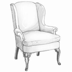 Comfy Accent Chairs For Bedroom - - Vintage Chairs Makeover Thrift Stores - - Accent Chairs With Grey Couch Eclectic Dining Chairs, Painted Dining Chairs, Industrial Dining Chairs, Dining Chair Cushions, Modern Chairs, Ikea Dining, Drawing Furniture, Chair Drawing, Furniture Sketches