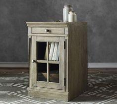 Livingston Single Glass Door Cabinet #potterybarn