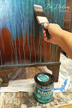 I always use a sealer for all my painted furniture. #furnituremakeover #paintedfurniture #copperleaf