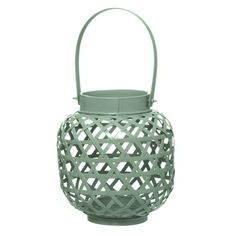 I've just found Mint Green Bamboo Lantern Tea Light Holder. Give your home a splash of colour with these bamboo lanterns. £18.50