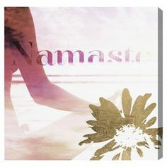 Remind yourself to breathe and tap into the power of your practice with Oliver Gal Namaste Canvas Wall Art . This fine-art print on canvas affords a. Namaste Quotes, Namaste Art, Painting Frames, Painting Prints, Canvas Art Prints, Canvas Wall Art, Golden Flower, Thing 1, Oliver Gal