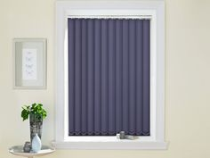Our Empire Sky Vertical blind could add a pop of midnight, without the scary commitment of a full-on statement wall. #blind #blinds #Vertical #home #blue