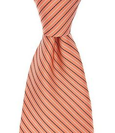 Roundtree & Yorke Trademark Rope Stripe Traditional SIlk Tie Light Peach, Light Orange, Color Palate, Tie And Pocket Square, Tie Colors, Silk Ties, Color Show, Bows, Traditional