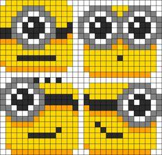 Lil Minion Blobs Perler Bead Pattern / Bead Sprite