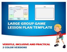 Physical Education - PE Large Group Game Editable Template