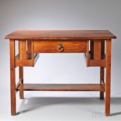 Arts and Crafts Oak Desk, 20th century. | Auction 2910M | Lot 692 | Estimate $300-$500