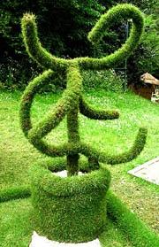 Grass sculpture