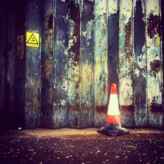 Industrial by mattbooy, via Flickr | #warm #cool #orange #yellow #blue #rust  #iphoneography