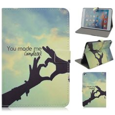 For Apple iPad Mini4 Hand Love Folio Folio Stand Leather Tablet Protective Case