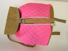 neon pink quilted backpack at snappy turtle