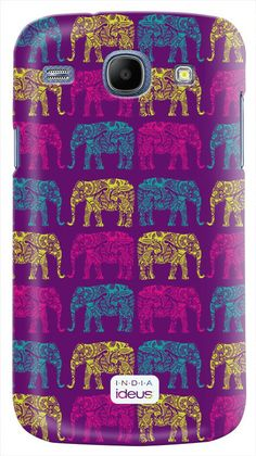 Glossy cover for Samsung Galaxy Core India collection, #ideus - #Elephants #purple