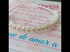 Mas um lindo modelo de tiara de pérolas!!! Desta vez com um toque de brilho para te encantar ainda mais!!! Vídeo de como encapar a tiara: https://youtu.be/pbVMATcOK5s