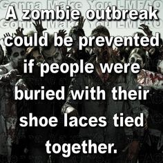 Just in case. Funny Quotes, Funny Memes, Hilarious, Twd Memes, Jokes Quotes, Memes Humor, Zombie Apocalypse Survival, Zombie Apocolypse, Post Apocalypse