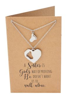 Use our Ansley Sisters Necklaces, Gifts for Sister Quotes Jewelry Greeting Card to show how much you love your big sister or little sis. Big Sister Quotes, Big Sister Gifts, Birthday Quotes For Best Friend, Birthday Gifts For Sister, Best Friend Quotes, Birthday Wishes, Husband Birthday, Sister Necklaces For 2, Sister Jewelry