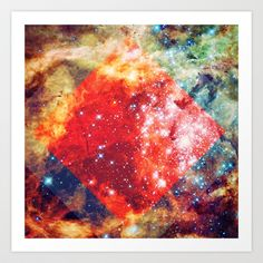 Stars on Fire Art Print by Caleb Troy - $18.00