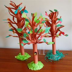 giving tree, seasons lesson plan art projects - so cute.