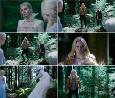 """""""You really think that your magic is a match for mine?"""" Snow Queen, """"There's only one way to find out."""" Emma - 4 * 3 """"Rocky Road."""""""