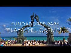 Fundadores Park in Playa Del Carmen tourist attraction
