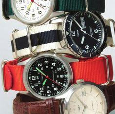 J. Crew Timex watch, bought my boyfriend one for his birthday :)