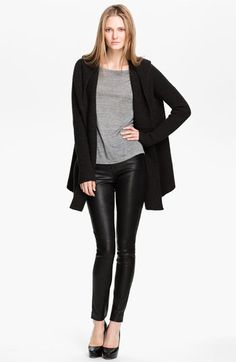 Vince Hooded Ribbed Cardigan | Nordstrom