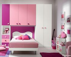 beautiful-girls-bedroom-decor-with-stunning-bed-under-pink-white-cabinet-as-well-purple-rug-on-floor-and-pink-bedding-set-also-frame-on-the-wall.jpg (1000×800)