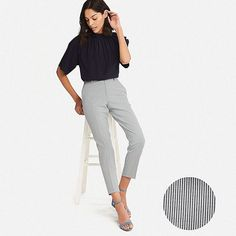 Uniqlo Outfit, Grey Pants Outfit, Summer Outfits, Formal Outfits, Formal Wear, Work Outfits, Formal Pants, Maternity Pants