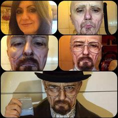 Becoming Walter White. Special FX makeup by artist Lucia Pittalis.