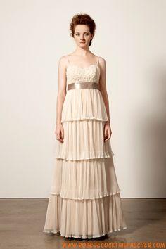Robe de mariée Empire ruban en mousseline