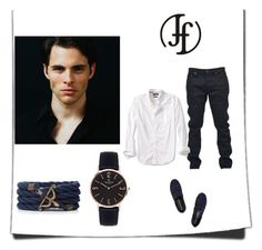 """""""Franco Florenzi #4"""" by almma-karic ❤ liked on Polyvore featuring Yves Saint Laurent, Banana Republic and Opening Ceremony"""