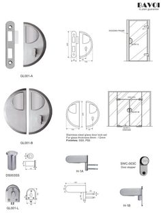 Aroma-Stainless steel glass door lock manufacturer[GL001A,B,L,H-1A,B] Glass Door Lock, Lock Set, Door Hinges, Door Locks, Shower Doors, Hardware, Stainless Steel, Gate Locks, Computer Hardware