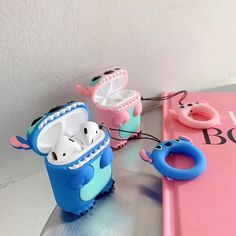 (Flash Sale) For AirPods Apple Case Cartoon Stitch Headphone Cases For Airpods 2 Silicon Case Funny Accessories Protector Covers Keychain