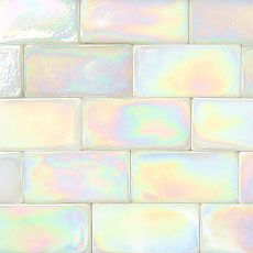 Radiant White Iridescent - Prism Elixir 2 x 4 Iridescent Recycled Glass Subway Tiles