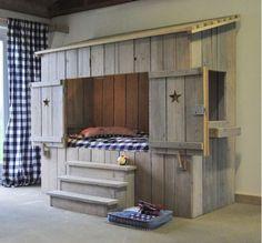 lit cabane pour enfants, mobilier enfant