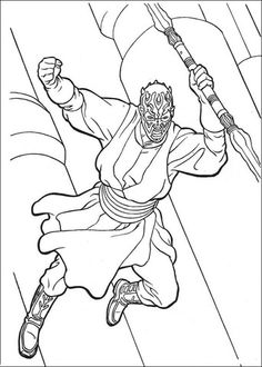 Darth Maul Star Wars Coloring Pages | Let's Color ...