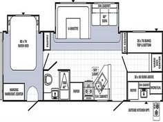 Travel trailer floor plans Travel trailers and Fifth wheel on
